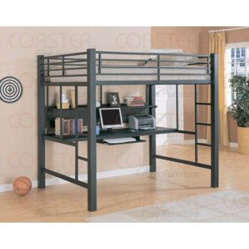 metal loft bed w desk 6 2 diy suggestions pinterest loft beds
