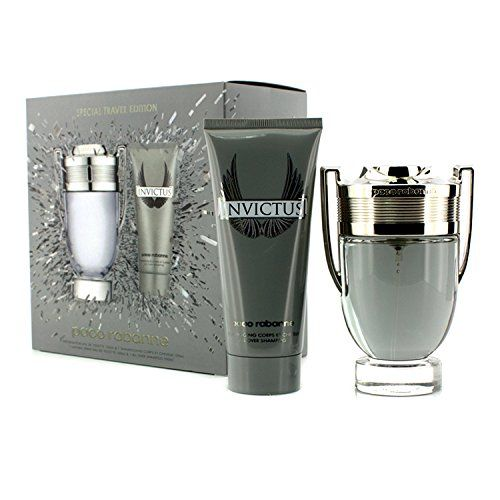 Paco Rabanne Invictus Travel Set; Eau De Toilette Spray 3.4oz. & All Over Shampoo 3.4oz.  http://www.themenperfume.com/paco-rabanne-invictus-travel-set-eau-de-toilette-spray-3-4oz-all-over-shampoo-3-4oz-2/