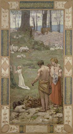 study for sainte geneviève pierre puvis de chavannes - Google zoeken