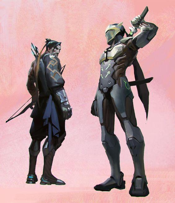 Genji and Hanzo overwatch