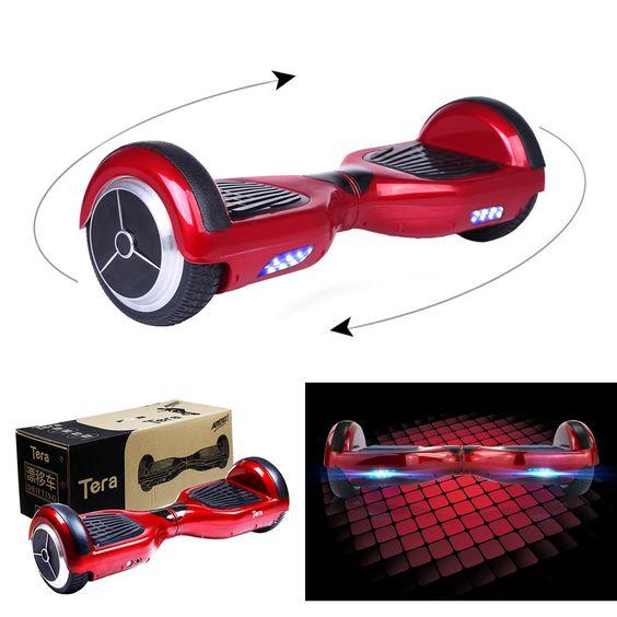 Tera T1 Smart Doble dos ruedas Auto Equilibrio Scooter eléctrico azul rojo negro + Tera enchufe europeo