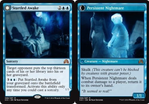 Rare Magic the Gathering NM MTG Innistrad 1x STARTLED AWAKE