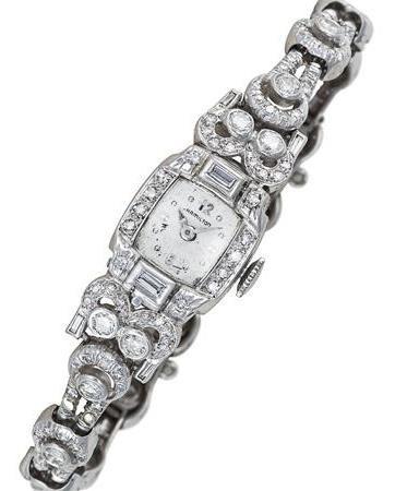 Vintage Hamilton Platinum Art Deco Ladies Watch