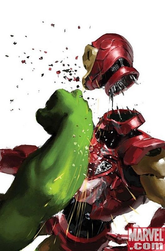 (Hulk vs Iron Man by Gerald Parel)