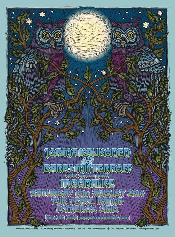 8/16/14 Moonalice poster by Gary Houston