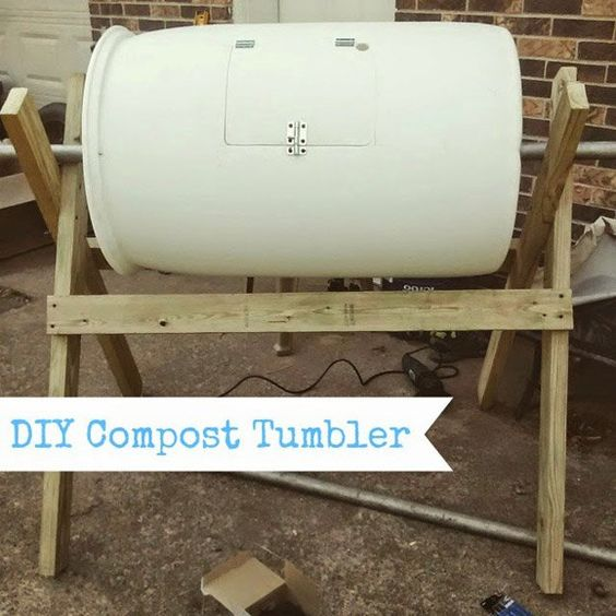 DIY Barrel Compost Tumbler | 13 Best DIY Compost Tumblers  | Make Your Own Organic Garden Fertilizer With These Easy And Inexpensive Compost Tumbler by Pioneer Settler at  http://pioneersettler.com/compost-tumblers/