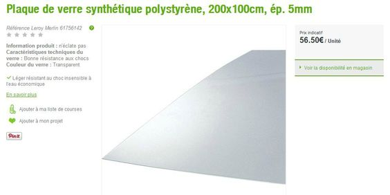 plaque polystyrene 5mm