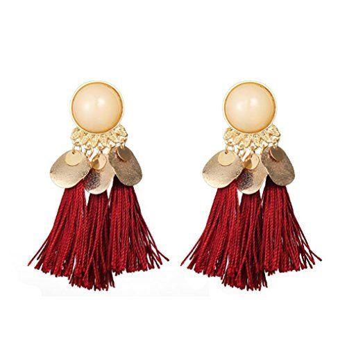 Fashion Femmes Elegant Shining Strass Statement Boucles d/'oreilles pendantes Dangle Bijoux