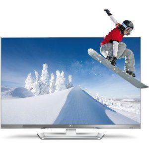 LG 42LM669S 107 cm (42 Zoll) Cinema 3D LED Plus Backlight-Fernseher, Energieeffizienzklasse A+ (Full-HD, 400Hz MCI, DVB-T/C/S2, Smart TV ) silber/weiß