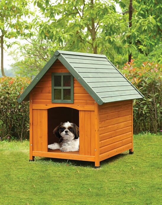 Acme 98202 Wade Country Design Pet Dog House With Wood Paneling