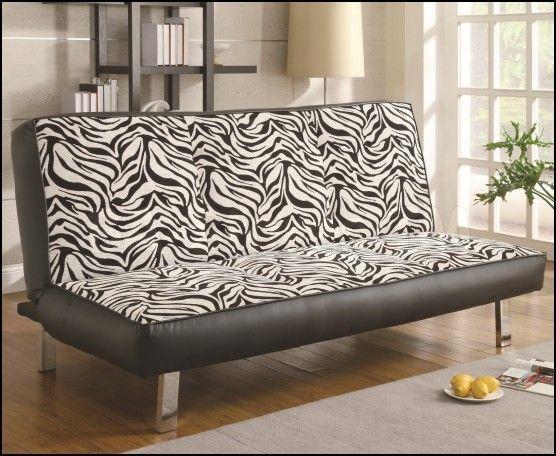 Cow Print Sofa #Zebrabedrooms