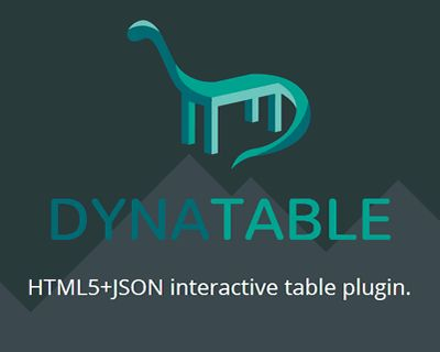 dynatable html5 and json interactive table plugin jquery html5 json