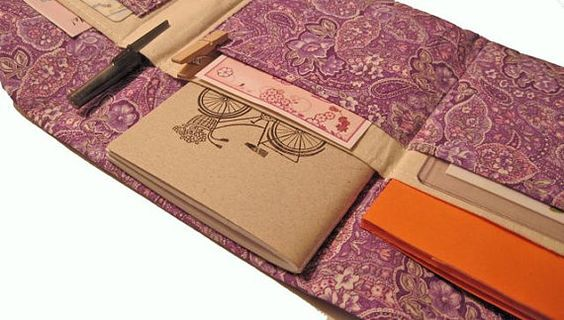 Paisley Clutch Organizer Wallet in Purple by TeepetalsDesigns, $25.00