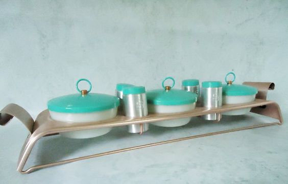 Vintage Condiment Serving Set Turquoise by SwirlingOrange11, $100.00