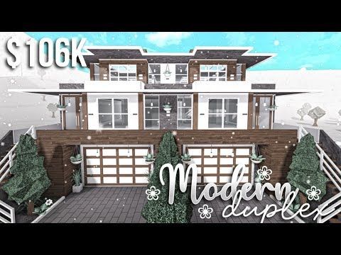Modern Duplex Part1 Exterior Roblox Bloxburg Gamingwithv Youtube In 2020 Unique House Design House Designs Exterior Two Story House Design