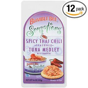 Bumble Bee Sensations Thai Chili Tuna Kit,  3.6 Ounce Packages (Pack of 12) $24.90