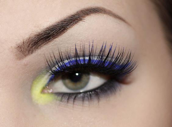 Black and Blue Thick False Eyelashes