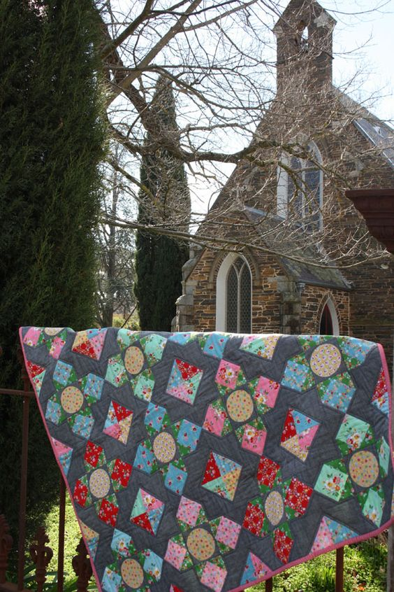 Lily's Garden quilt pattern by Lilabelle Lane Creations