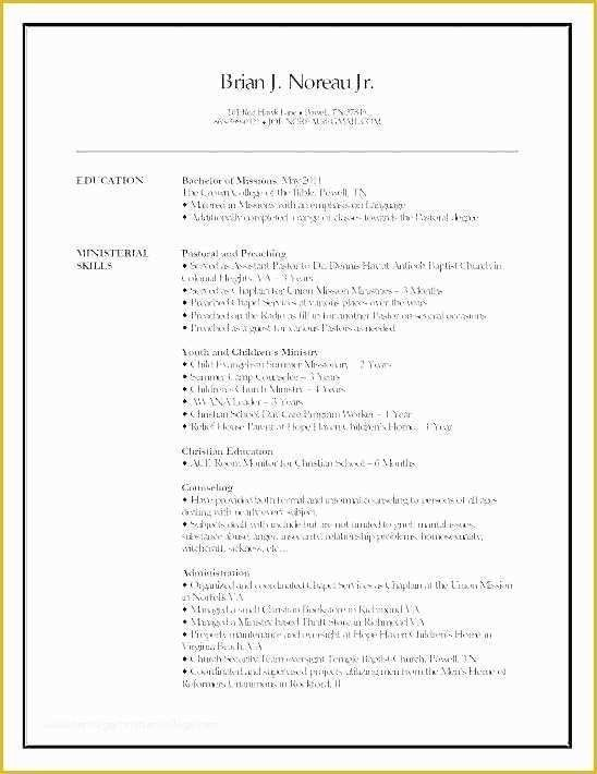 Free Ministry Resume Templates Of Resume For Pastor Position Resume Template Resume Design Template Downloadable Resume Template