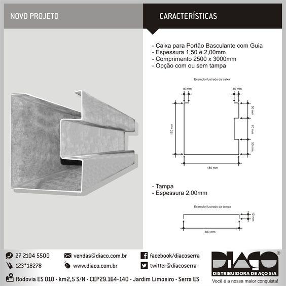 Grupo Diaço - Caixa para portão basculante ! #diaco #serra #es