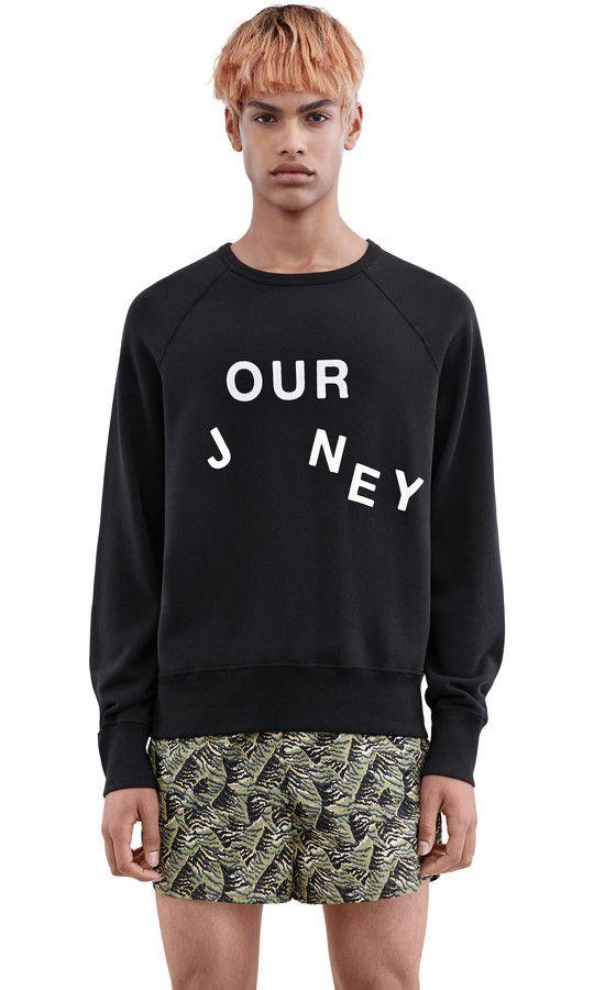 Acne Studios -  College Slo Jo Black - Sweatshirts - SHOP MAN - Shop Shop Ready to Wear, Accessories, Shoes and Denim for Men and Women