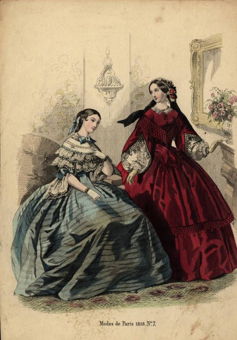 Day and evening or dinner dress, 1858