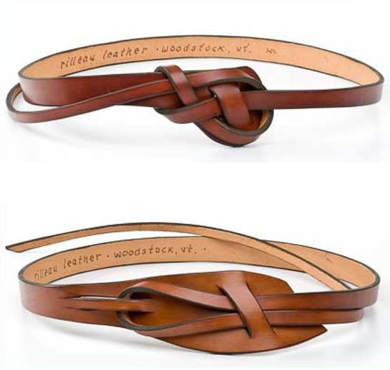 Rilleau Leather's knotted leather belts. these look really simple to make, actually.