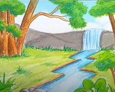 Contoh Gambar Pemandangan Alam yang Mudah Ditiru 8