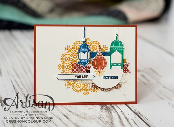 Hello friends - welcome back for another Stampin' Up! Artisan Design Team blog hop - we are sharing the Moroccan Nights suite in conjunctio...:
