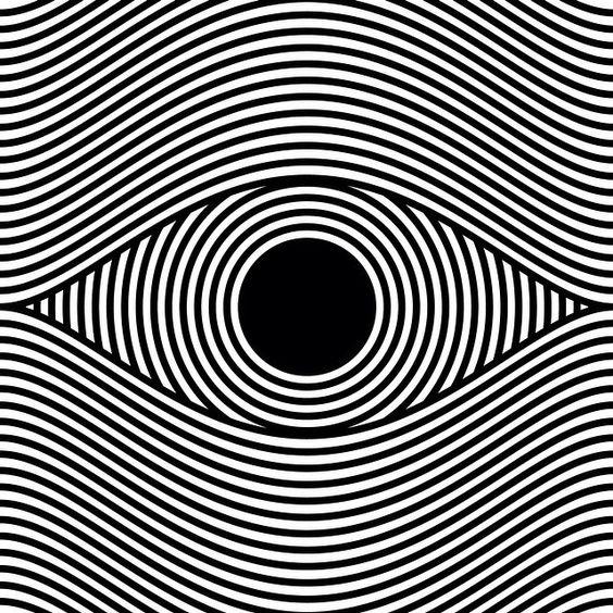 eye op art, optical art by sergi delgado