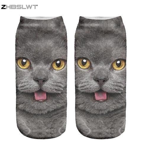 Harajuku Socks for Women Cute Cartoon Animal Dog Character Soft Spandex Sock