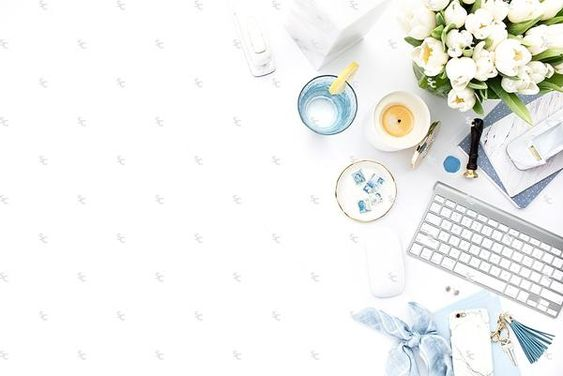 Styled Stock Photography French Blue Desk Collection #23