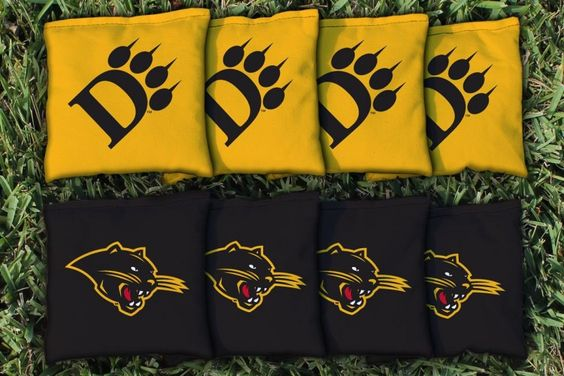Ohio Dominican Panthers Team Logo Cornhole Replacement Bag Set