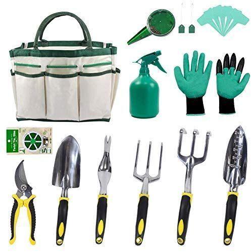 Keayoo Garden Tools Set Of 12 In 1 Set With Pocket Gardening