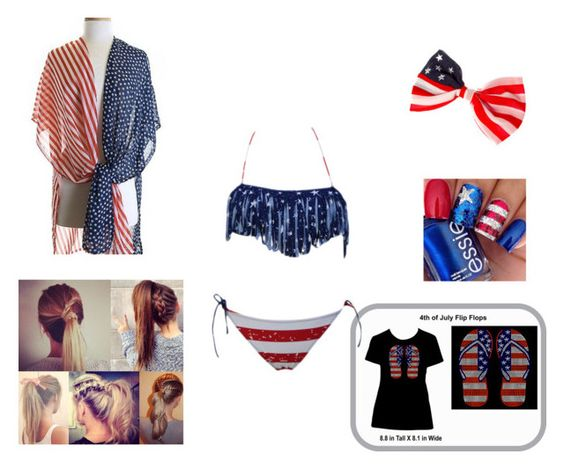 """Red White & Blue✌️"" by mckenzie-nemier on Polyvore"