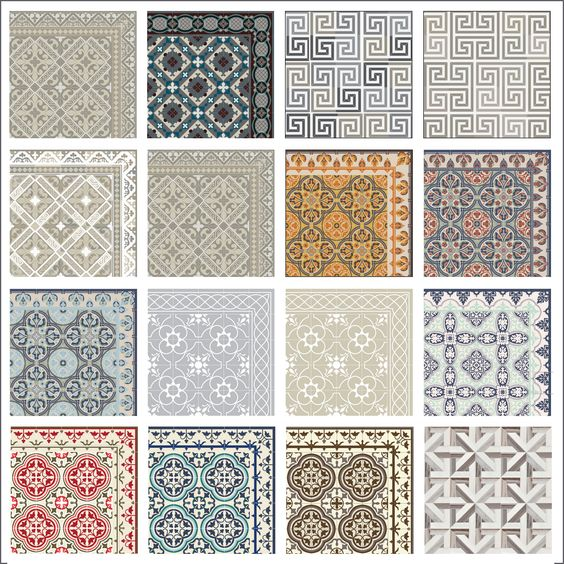 Vinyles haute couture and boutons on pinterest for Tapis vinyl carreaux ciment