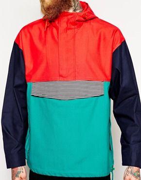 Enlarge Reclaimed Vintage Mixed Color Rain Jacket | MENS FASHION