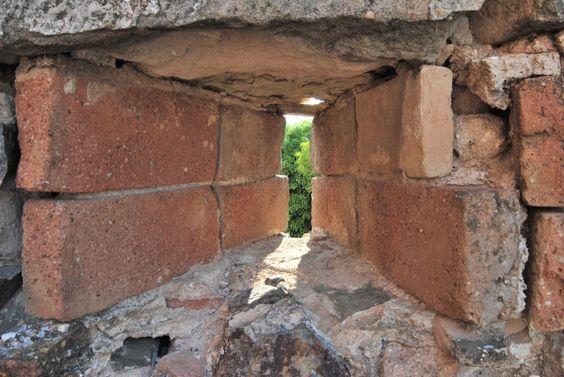 Aspillera del Castillo de Falset Tarragona Spain.
