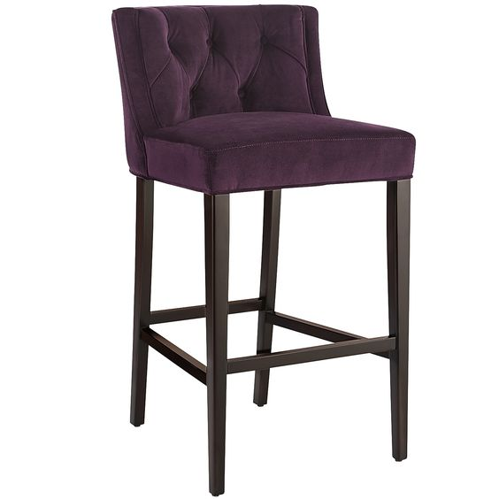 Purple Gisel Bar Stool - Merlot