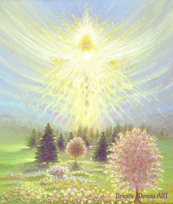 Brigitte Devaia ART Landscape Deva Angel of Growth