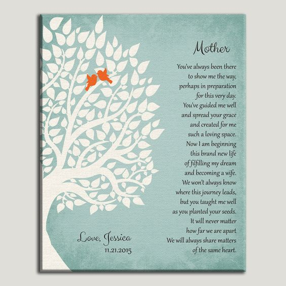 Thank You Gifts For Mom And Dad : ... gift for mother gifts personalized gifts wedding poems mom and dad mom