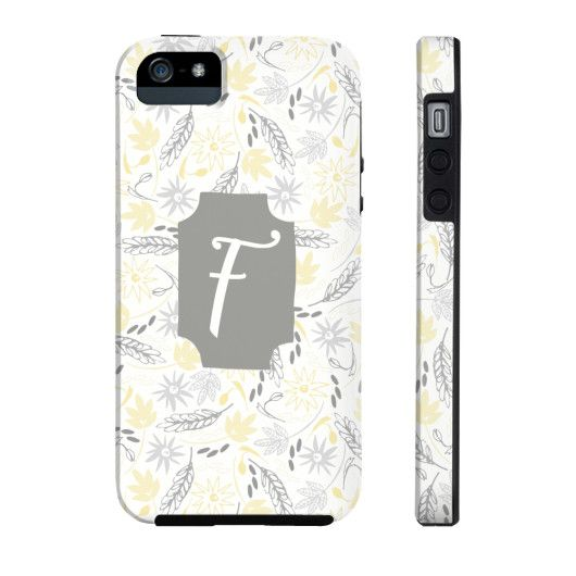 Bright & Cheery Floral Pattern Phone Case - Letter F