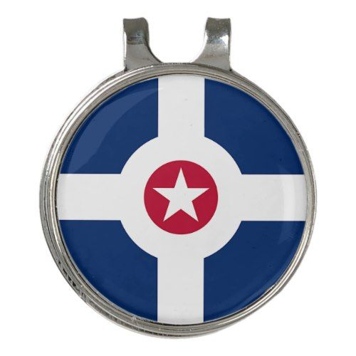 Golf Hat Clip And Ball Marker Flag Of Indianapolis Zazzle Com Golf Hats Ball Markers Hat Clips