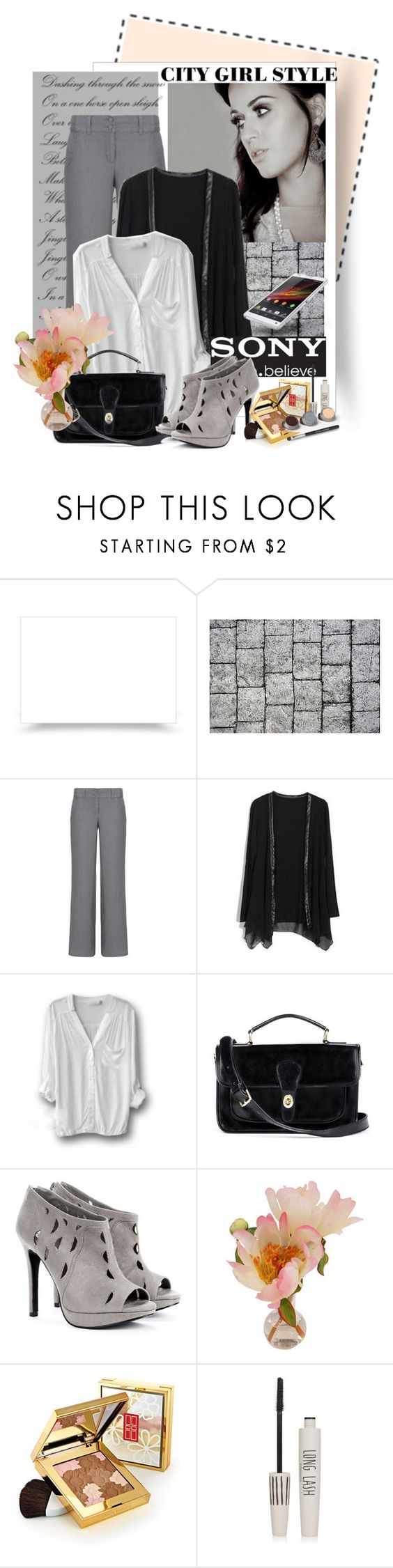 """Sony Xperia"" by polybaby ❤ liked on Polyvore featuring Monsoon, Retrò, Sony, Sole Society, Elizabeth Arden, Topshop and Bare Escentuals"