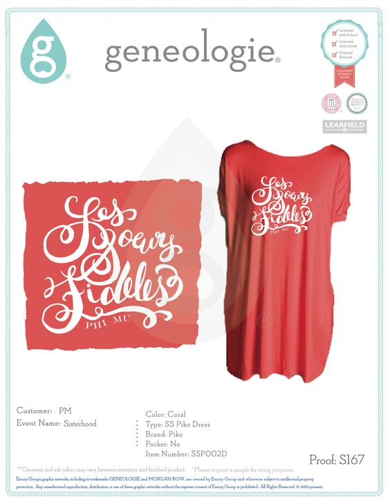 Piko Dress Sorority Shirt Designs And Apparel Design On