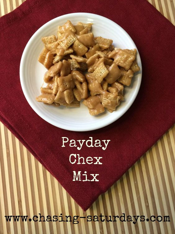 Payday Chex Mix. Easy, Simple, Microwave, Chasing Saturday's