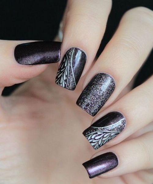 Elegant And Stylish Nail Art Designs Purple Nail Art Purple