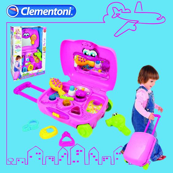 Molly - Il mio primo Trolley è un divertente e portatile centro attività interattivo per bambine. Insegna le vocali, i numeri i colori e i nomi degli oggetti interattivi #giocattoli #giochi per la #primainfanzia by #clementoni #clementonibaby #babyclementoni #giochibambine #toys #baby #babytoys