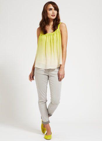 Neon & cuffed jeans