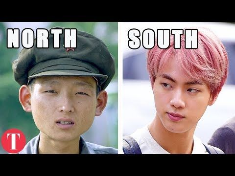 2 10 Differences Between North Korea And South Korea Youtube North Korea South Korea Korea